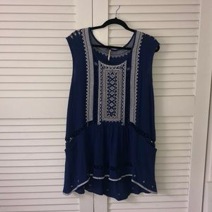 Free people blue dress